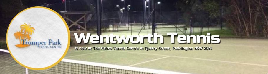 Wentworth Tennis is now at Trumper Park |Palms Tennis Centre